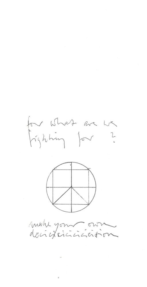 Kreis Kreuz  Peace Quadrat - Frage These - Vitruv     Grafik 20190909fra