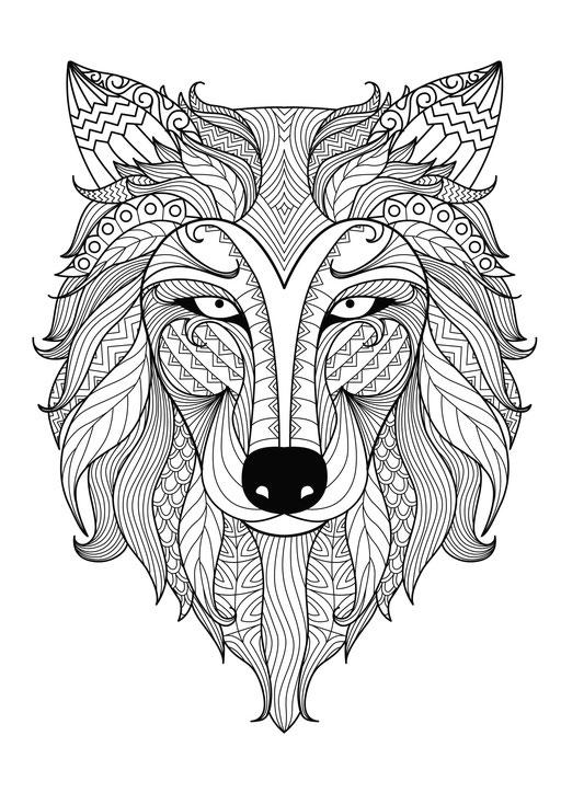 lobo para colorear