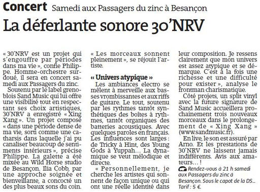 L'Est Républicain - 17/04/2014