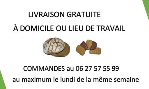 livraison gratuite à domicile pain bio petit épeautre Hérault 34