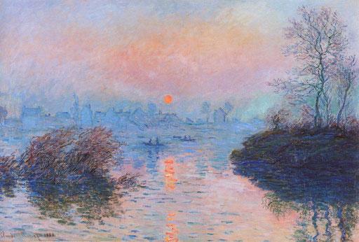 Claude Monet, Coucher de soleil à Lavacourt