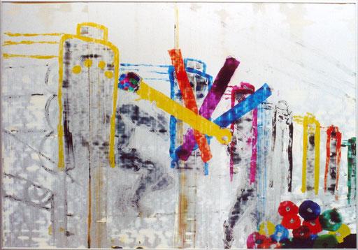 Nr.147  2007  Markus Stein  Druckfarbe auf Aluminium  70x 100 cm