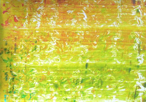 Nr.167  2011  Osterstrauß VI  Druckfarbe auf Aluminium  70 x 100 cm