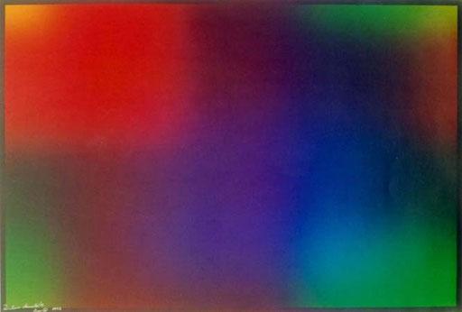 Poster Nr.2  1992  Zweifacher 7-farbiger Offset  Irisdruck  50 x 70 cm