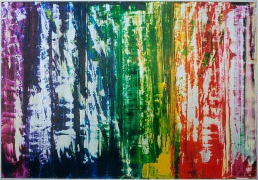 Nr.084  2000  Lindgrün  Druckfarbe auf Aluminium  70 x 100 cm