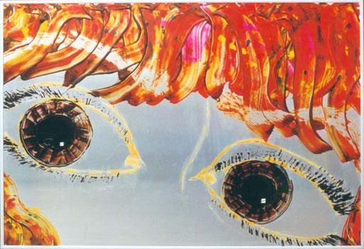 Nr.031  1993  Bärbel  Druckfarbe auf Aluminium  70 x 100 cm