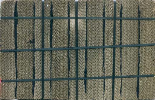 Nr.086  2000  abgebunden  Objekt aus Wellpappelementen Druckfarbe Plastikband  58 x 88 x 10 cm