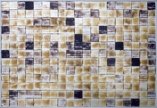 Nr.061  1996  Bilderbestellung nach der Firmenjubiläumsfeier  Druckfarbe auf Aluminium  70 x 100 cm