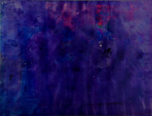 Nr. 193 ohne Titel 2014  Druckfarbe auf Aluminium 77 x 101 cm