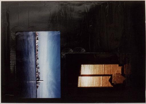 Nr.101  2001  Nine Eleven  Fotos und Druckfarbe auf Aluminium  70 x 100 cm