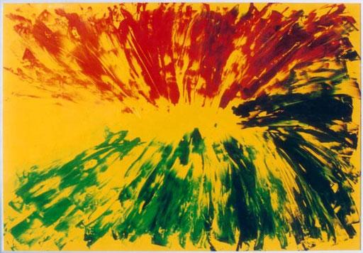 Nr.063  1996  You and me  Druckfarbe auf Aluminium  70 x 100 cm