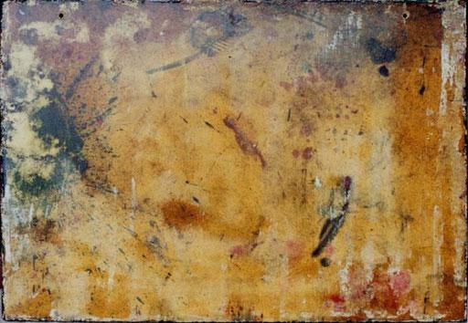 Nr.073  1998  Auswaschplatte  Spanplatte  64 x 90 cm