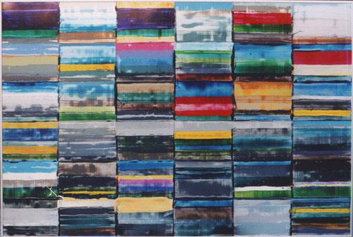 Nr.116  2004  Calpe - Bern  Druckfarbe auf Aluminium  70 x 100 cm