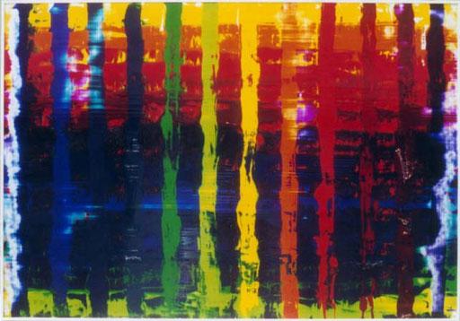 Nr.90  2001  ohne Titel  Druckfarbe auf Aluminium  70 x 100 cm