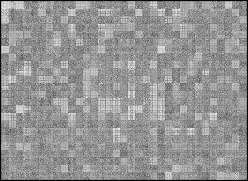 Nr. 171 Sudoku 9er graphisch 2012 Print auf Aluminium 73 x 100 cm