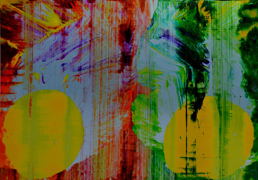 Osterstrauß VIII 2014 Druckfarbe auf Aluminium 70 x 100 cm
