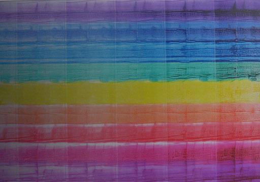 Gradation spectrale  au Gris  2011  encre d'imprimerie sur aluminium