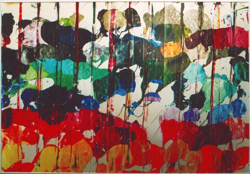 Nr.114  2003  Palette  Druckfarbe auf Aluminium  70 x 100 cm