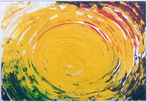Nr.056  Gelb  Druckfarbe auf Aluminium  70 x 100 cm