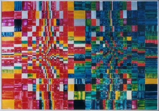 Nr.004  Remake von '68  Druckfarbe auf Aluminium  70 x 100 cm