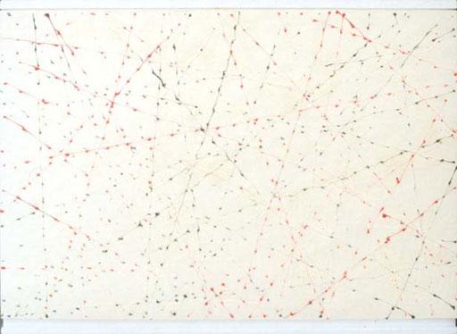 Nr.068  1996  Neon Trails  Druckfarbe auf Styroporplatte  77 x 104 cm