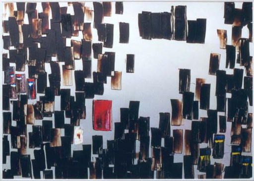 """New England Holyday from """"The Scarlet Letter"""" by Nathaniel Hawthorne  printing ink on aluminium"""