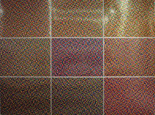 Nr. 173  2013  Sudoku 9 Tafeln  Druckfarbe auf Aluminium  219 x 300 cm