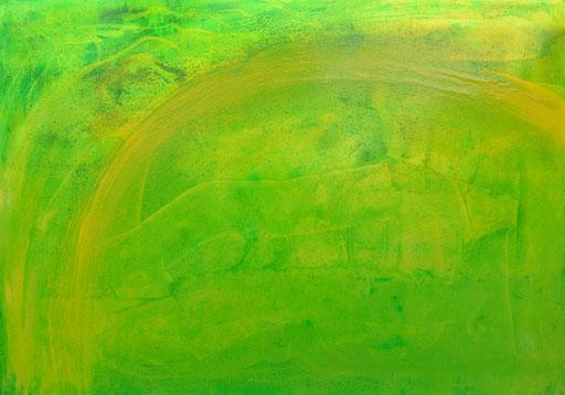 Nr.177  Osterstrauß IX  2015  Druckfarbe auf Aluminium  70 x 100 cm