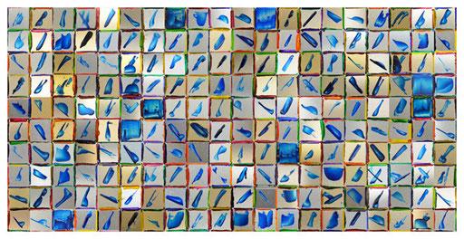 """Nr. 175  2013  """"Cher Magritte, c'est quand même une pipe""""  Foto-Graphic Multiple: 10 Pieces  Print on Aluminium  16 x 31 cm"""