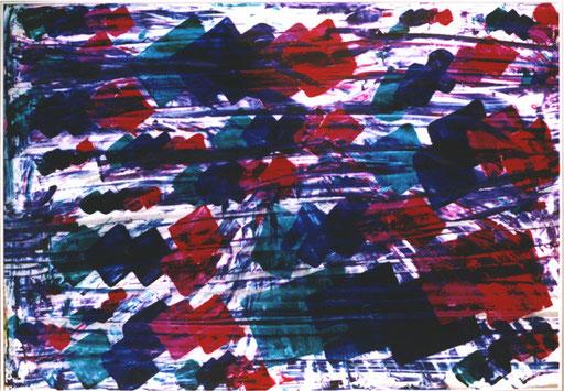Nr107  2002  Kalt  Druckfarbe auf Aluminium  70 x 100 cm
