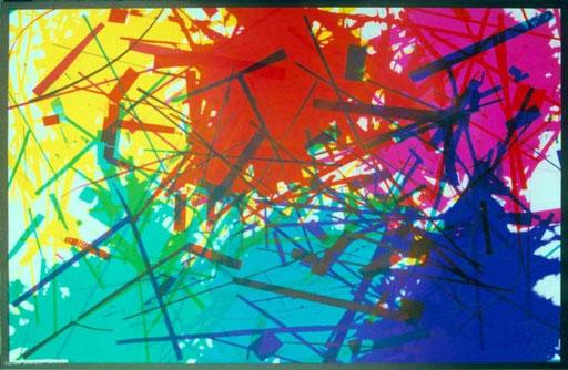 Poster Nr.5  1996  7-farbiger Offsetdruck  70 x 100 cm