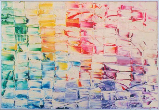 Nr.052  Northport Sweetshop  Druckfarbe mit Deckweiss auf Aluminum  70 x 100 cm