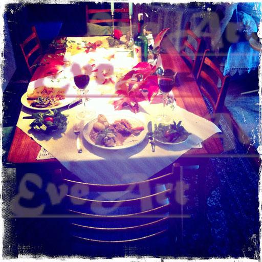 An Mutters Tisch