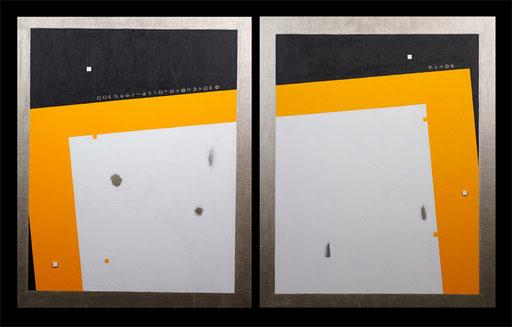 Body & Image 8   1304mm×803mm (652mm×803mm each)  F25×2  Acrylic  2014