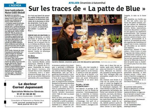 Les Dernières Nouvelles d'Alsace, édition du 18 janvier 2014