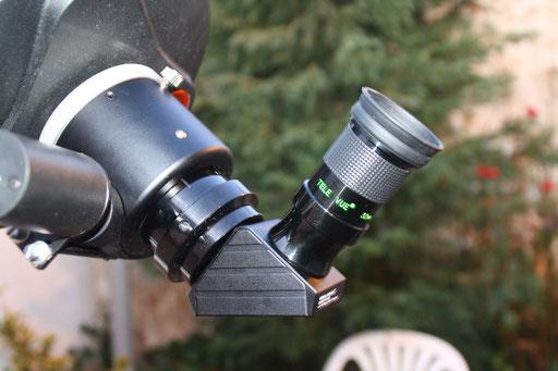 Detalle diagonal StellarVue Dielectrica y ocular TeleVue 32mm
