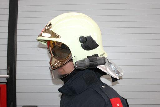 Feuerwehrhelm MSA Gallet F1 SF + Helmlampe
