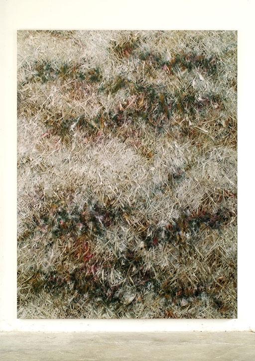 Skriptur VII | 2013 | Kunstharz, Acrylfarbe, Ölfarbe auf Leinwand | 210 x 160 cm