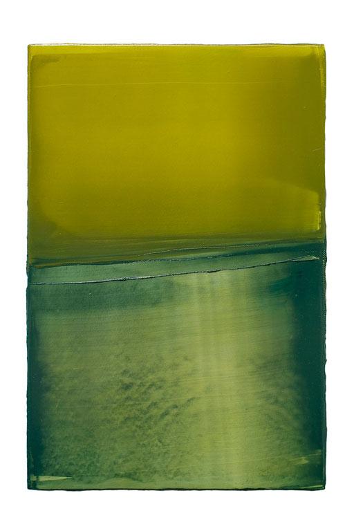 Engramm 89 | 2012 | Acrylfarbe, Kunststoffsiegel, Ölfarbe auf MDF | 30 x 20 cm