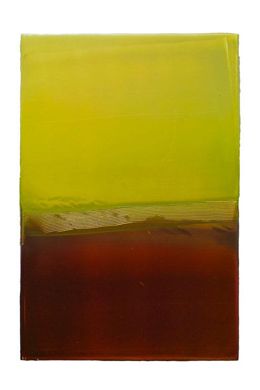 Engramm 92 | 2012 | Acrylfarbe, Kunststoffsiegel, Ölfarbe auf MDF | 30 x 20 cm