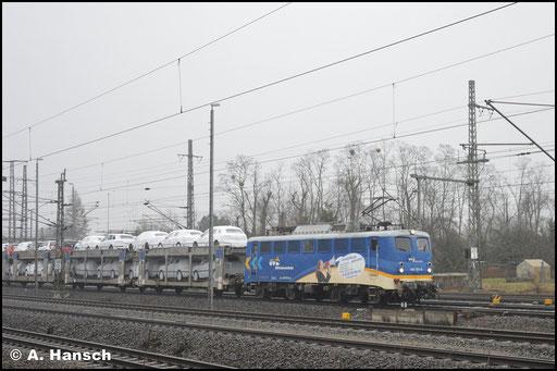 140 761-8 der Mittelweserbahn GmbH durchfährt am 3. Februar 2019 Luth. Wittenberg Hbf.