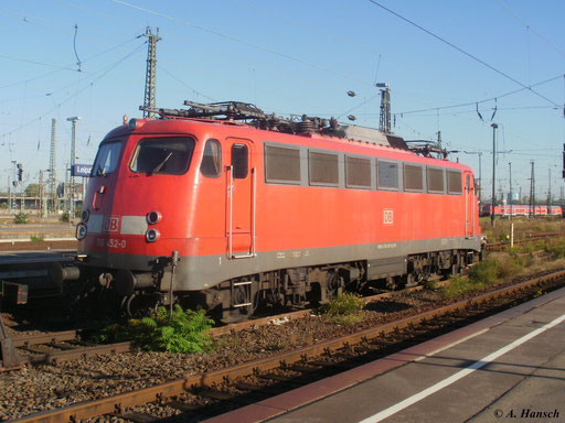 Am 2. Oktober 2011 stand 110 452-0 in Leipzig Hbf.