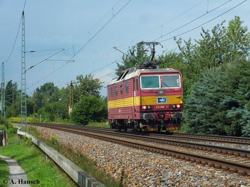 372 008-3 als Lz bei der Durchfahrt durch Dresden Stetzsch (13. August 2013)