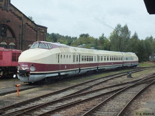 Üblicherweise bestand der Zug aus mindestens 4 Teilen. Der im SEM erhaltene VT 18.16.03 (175 005/006) jedoch nur noch aus drei.