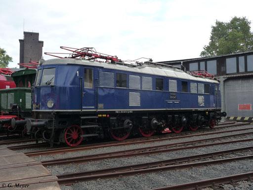 Die Lok ist betriebsfähig und gehört dem Verkehrsmuseum Nürnberg