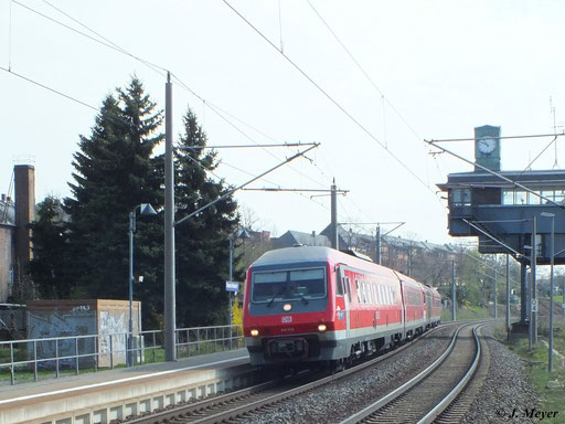 Hier durchfahren 610 009 und 610 016 den Hp Chemnitz Hilbersdorf in Richtung Chemnitz Hbf. (25. April 2013)