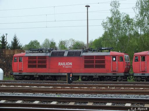 180 007-7 ist eine von fünf 180ern, die Ende April von Rostock nach Chemnitz überführt wurden. Hier steht sie mit 180 002-8 und 232 529-8 an ihrem Bestimmungsort AW Chemnitz