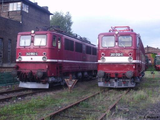 Äußerlich ähnelte die E251 der E42 stark, wie dieses Bild dokumentiert (SEM Chemnitz, 19. August 2011)