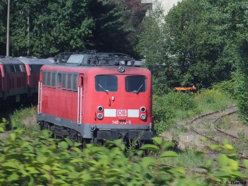 Auch 140 772-5 ist im AW Chemnitz abgestellt (15. August 2012)