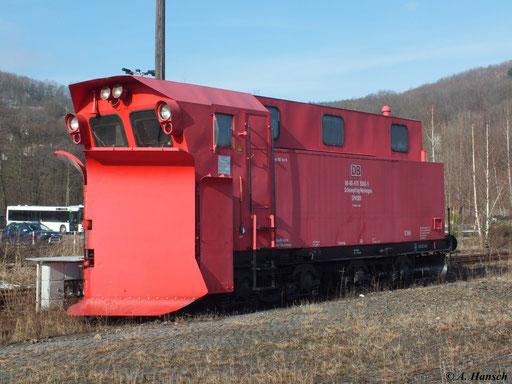 Am 22. Februar 2012 steht SPM308 (80-80-970 5000-5) auf den ehemaligen Gütergleisen des Bf. Aue (Sachs.)